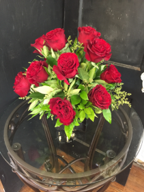 Dozen roses in Black Cube - other colors available