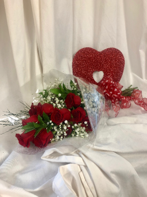 Dozen Roses Wrapped  in Medfield, MA | Lovell's Florist, Greenhouse & Nursery