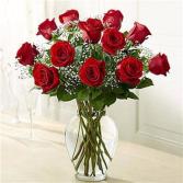 Dozen Standard Red Roses Arrangement
