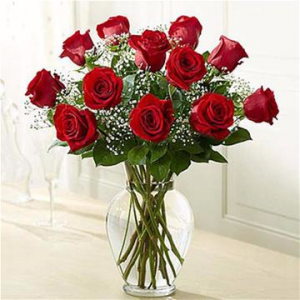 Dozen Standard Red Roses Arrangement in Winston Salem, NC | RAE'S NORTH POINT FLORIST INC.
