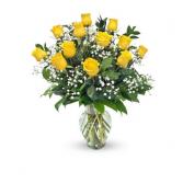 Dozen Sunshine Roses