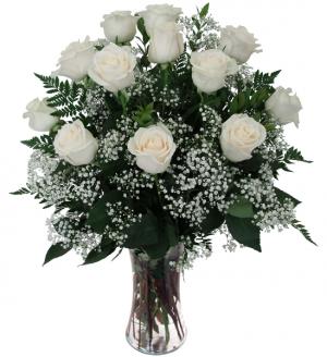 Dozen White Roses  in Whitehall, PA | PRECIOUS PETALS FLORIST