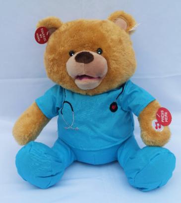 "Singing ""Dr. Bear"" Get Well Plush"