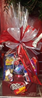 Dr. Pepper Junk Food Box Candy Arrangement