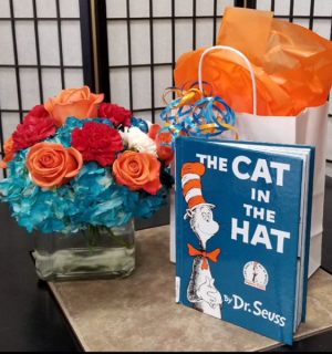 SFS DRS  Fresh Bouquet and The Cat In The Hat Book in Indianapolis, IN | SHADELAND FLOWER SHOP