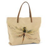 Dragon Fly Tote cotton and leather