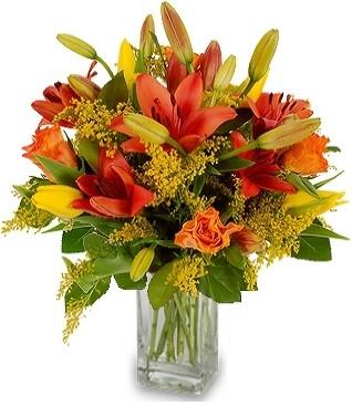 ORANGE LILIES FLOWERS  BOUQUET