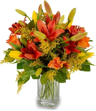 ORANGE LILIES FLOWERS  BOUQUET