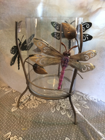 Dragonfly candle/ Vase Giftware