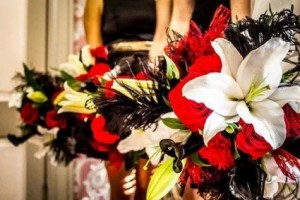 Dramatic....Red, White & Black  in Canon City, CO   TOUCH OF LOVE FLORIST AND WEDDINGS
