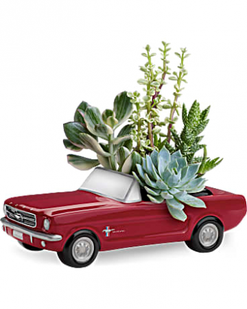 Dream Wheels '65 Ford Mustang by Teleflora arrangement