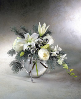 Dreaming of a White Christmas Vase Arrangement
