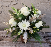 Dreaming of a White Christmas Vased Arrangement