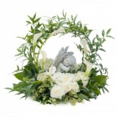 Dreaming with Angels Wreath in Burnt Hills, NY | THE COUNTRY FLORIST