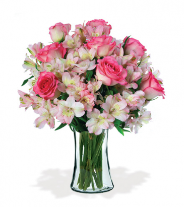 Dreams of Pink Vase Arrangement