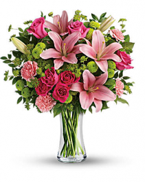 Dress To Impress Bouquet Vase Arrangement