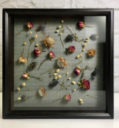 Dried Flower Art  Shadow Box