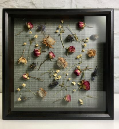 Dried Flower Art  Shadow Box