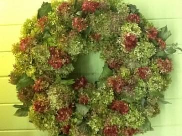 Dried Hydrangea Wreath Dried Wreath