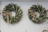 Dried Lavender and Cream Larkspur Wreath SALE one wreath left--REG--$69.95