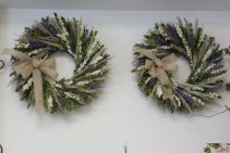 Dried Lavender and Cream Larkspur Wreath Priced Per Wreath