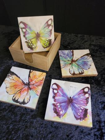 Butterfly Drink Coaster Set