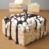 Drizzled Mini Marshmallow CrispyCake  Food Gift