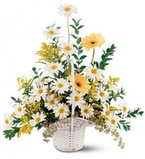 Drop of Sunshine Basket Basket Arrangement