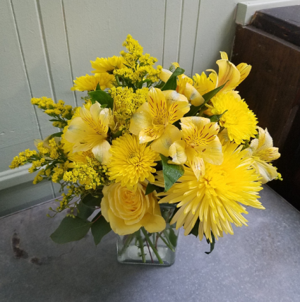 Drop Of Sunshine Vase Arrangement