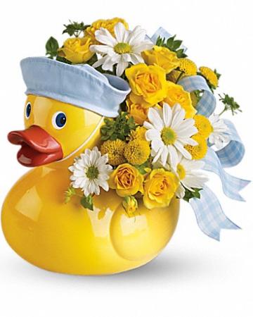 Duck Arrangment for Boy New Baby