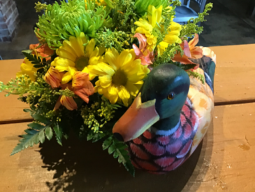 Duck decoy arrangement Colorful