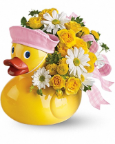 Ducky Delight- Girl Keepsake New baby Arrangement