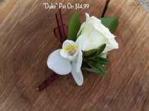 Duke Pin-On Boutonniere