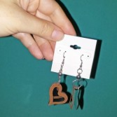 Duo Toned Heart Earings Jewellery