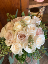 Dusty & Ivory Rose Bridal Bouquet