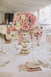 Dusty Rose Vase Wedding Reception