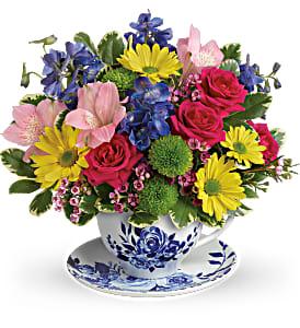Dutch Garden Bouquet Cup and Saucer