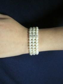 Dutchess Wristlet, Pearl/Rhinestone, $12.00