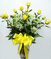 Dz. Long Stemmed Yellow Roses  in Hesperia, CA | ACACIA'S COUNTRY FLORIST