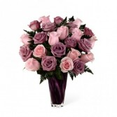 2 Dz purple and pink roses