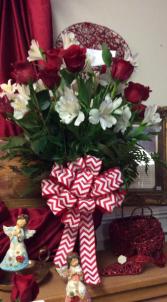 DZ.Rose Vase with White Austro