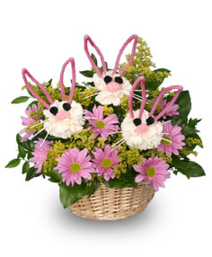 SOMEBUNNY LOVES YOU! Basket of Flowers in Calgary, AB | BEST OF BUDS