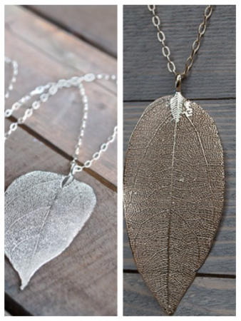 Real Life Leafe Necklace Glee Jewelry