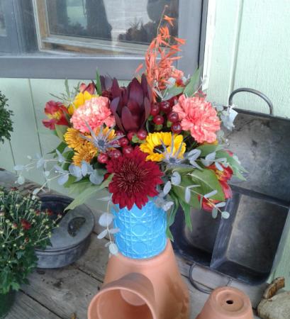 Earthy Fall Fresh Arrangement