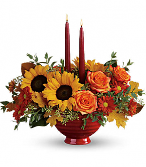 Earthy Autumn Centerpiece  in Fort Collins, CO | D'ee Angelic Rose Florist