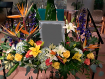 Easel Tribute Funeral