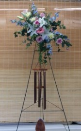 Easel With Wind Chime Arrangement