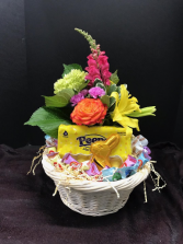 Easter Basket--Candy and Flowers