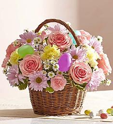 Easter Basket Flower Arrangement