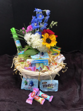 Easter Basket--Flowers, candy, toys